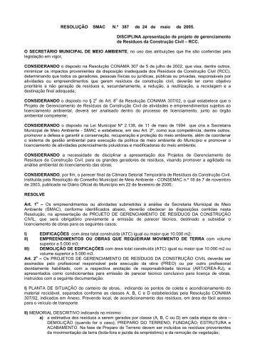 Resolução Nº 387 de 24/05/2005 - rio.rj.gov.br