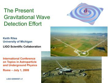 Gravitational Waves - University of Michigan