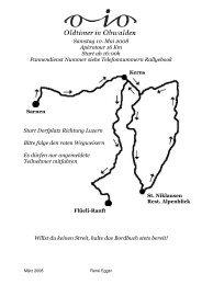 Samstag 10. Mai 2008 Apérotour 16 Km Start ab 16:00h ... - O-iO