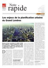 Les enjeux de la planification urbaine du Grand Londres - IAU îdF