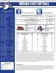 Indiana State Softball - Indiana State University Athletics