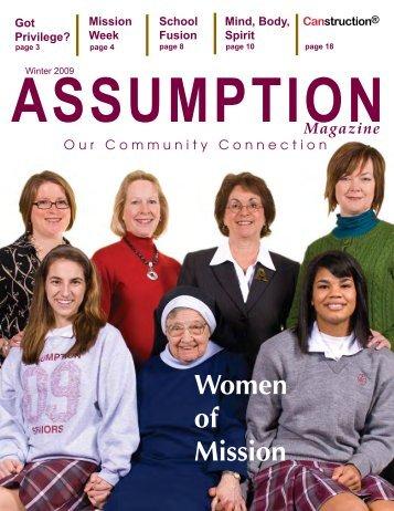 Assumption Magazine Winter 2009 - Assumption High School