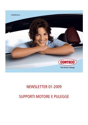 NEWSLETTER 01-2009 SUPPORTI MOTORE E PULEGGE - Corteco