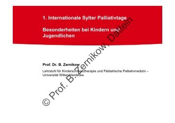 Besonderheiten bei Kindern und Jugendlichen - Palliativtage-sylt.de