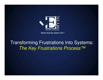 The Key Frustrations Process