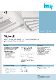 Knauf Vidiwall -tuotekortti