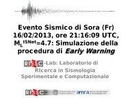 Evento Sismico di Salvitelle (SA) 13/07/10, ore 03:36:18 UTC ... - ISNet