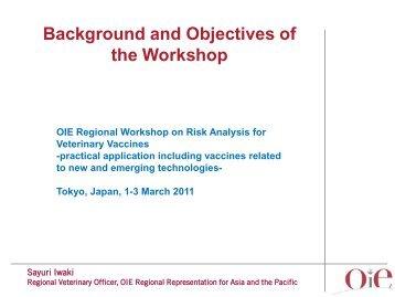 スライド 1 - OIE Asia-Pacific