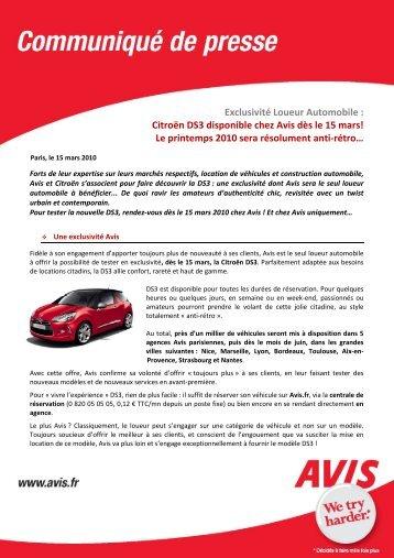 Exclusivité Loueur Automobile - Avis