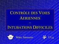 CONTRÔLE DES VOIES AERIENNES - INTUBATIONS DIFFICILES