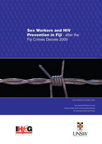 Sex Workers and HIV Prevention in Fiji - after the Fiji Crimes Decree ...