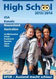 USA Kanada Neuseeland Australien DFSR – Ausland macht schlau!