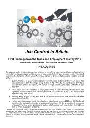 Job Control in Britain - Mini Report - Cardiff University