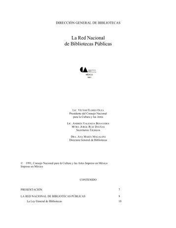 La Red Nacional de Bibliotecas Públicas - Dirección General de ...