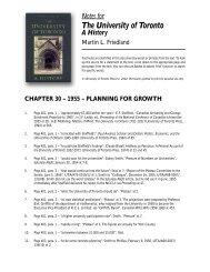 Notes to Chapter 30 - University of Toronto Press Publishing