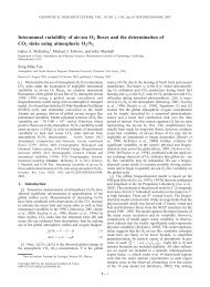 Interannual variability of air-sea O2 fluxes and - Center for Climatic ...