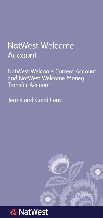 [PDF] NatWest Welcome Account