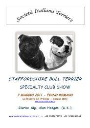 staffordshire bull terrier - Società Italiana Terriers