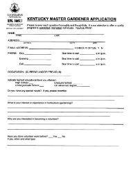 Master Gardener Application - Bullitt County Cooperative Extension