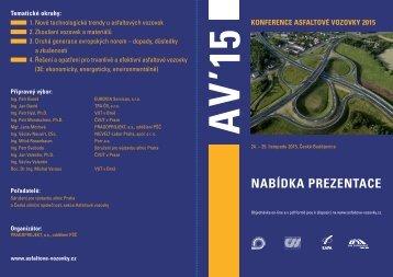 NABÍDKA PREZENTACE - Konference ASFALTOVÉ VOZOVKY 2013