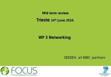 WP 3 - Focus-Balkans