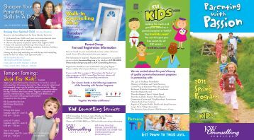 2012 Spring Programs 2012 Spring Programs - KW Counselling ...