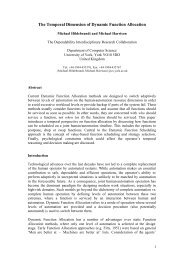The temporal dimension of dynamic function allocation. Proceedings ...