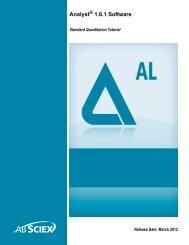 Analyst® 1.6.1 Software Standard Quantitation Tutorial - AB Sciex