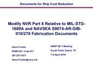 NVR Part 8 relative to MIL-STD 1689A and NAVSEA S9074 ... - NSRP