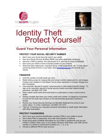 Identity Theft Protect Yourself
