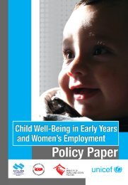 Child Well-Being in Early Years and Women's Employement Policy ...