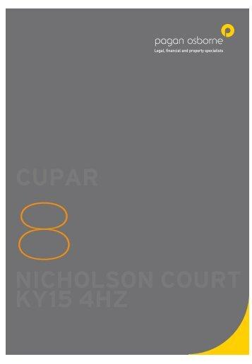 CUPAR NICHOLSON COURT KY15 4HZ - Live.web-print.co.uk