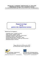 COOPAMI - Algérie - Stage de formation en Belgique pour des ...
