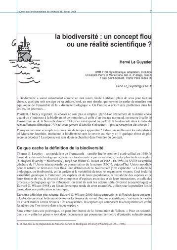 la biodiversité : un concept flou ou une réalité ... - Jejardine.org