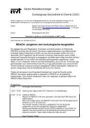 REACH: Jongleren met toxicologische kengetallen - Nederlandse ...