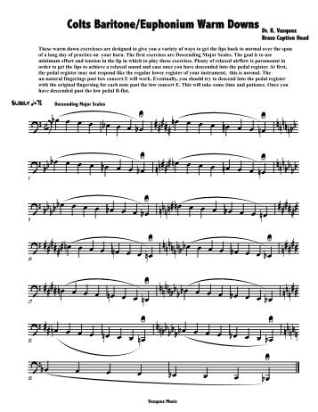 Colts Baritone/Euphonium Warm Downs