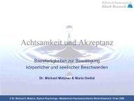 Auf Achtsamkeit basierende Therapieansätze - Leerheit.de