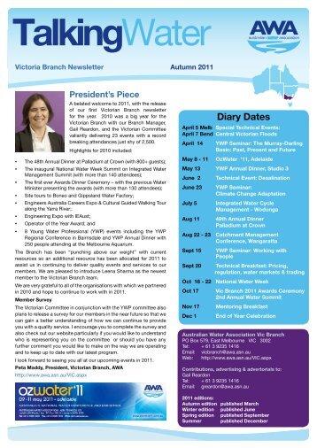 Download the 2011 Autumn edition - Australian Water Association