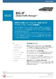 BIG-IP GTMデータシート