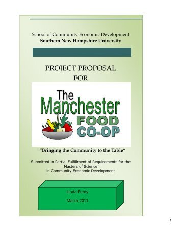 Project proposal for the Manchester Food Co-op - SNHU Academic ...