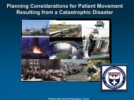Planning Considerations for Patient Movement Resulting from a ...