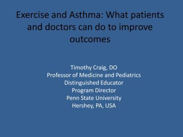 Exercise and Asthma: What patients and doctors can do to improve ...