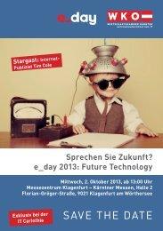 SAVE THE DATE - Fachgruppe UBIT Kärnten