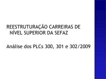 Projetos Plano de Carreira na SEFAZ.