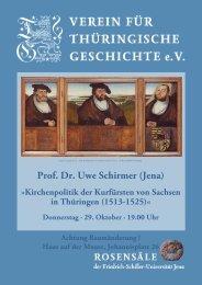 Prof. Dr. Uwe Schirmer (Jena)