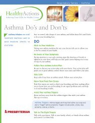 Asthma Do's and Don'ts