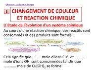 Cours CHANGEMENT DE COULEUR ET REACTION ... - Webnode