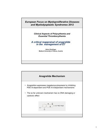 European Focus on Myeloproliferative Diseases and ... - Imedex