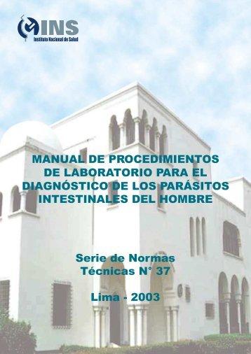 MANUAL DE PROCEDIMIENTOS DE LABORATORIO ... - BVS Minsa