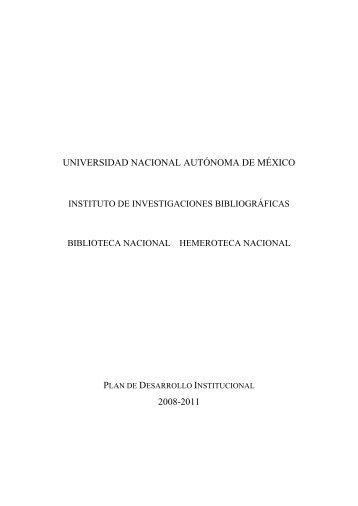 El Instituto de Investigaciones Bibliográficas, la Biblioteca ... - Inicio